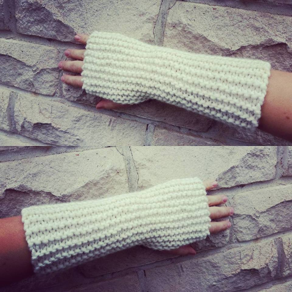 3 Rabbits Patterns: Very easy and quick fingerless gloves pattern