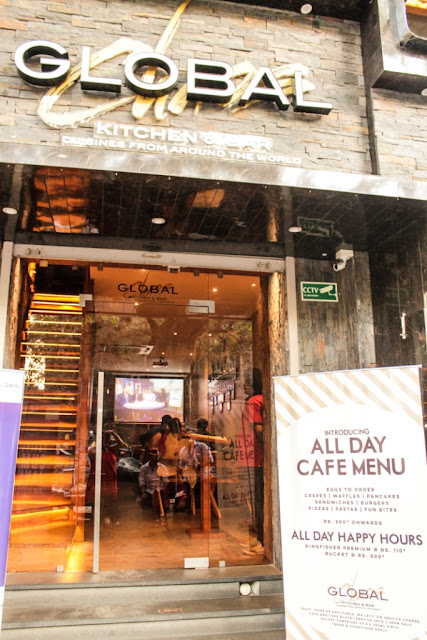 Global Chaos Mumbai All Day Cafe Menu Food Blogger Review Gourmet Delicious Healthy Sandwich Burger Pizza Pasta Waffles Dessert