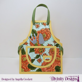 Divinity Designs Stamp Set: Daughter's Best Friend, Embossing Folder: Cross Stitch Embossing, Custom Dies: Apron and Tools