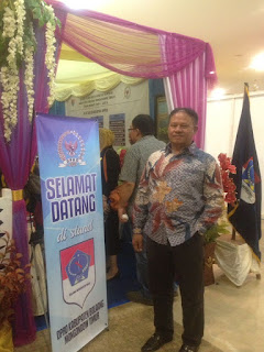 Nampak ketua DPRD Boltim, Marsaole Mamonto pada kegiatan legislatif SulutGo Expo di Manado.