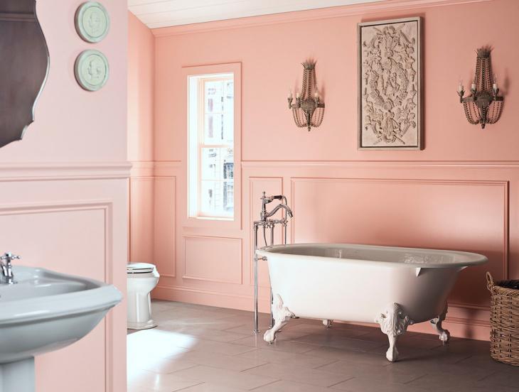 20 Fotos de casas de banho em cor de rosa  Decorao e Ideias