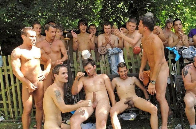 performing males Fit lads sex party