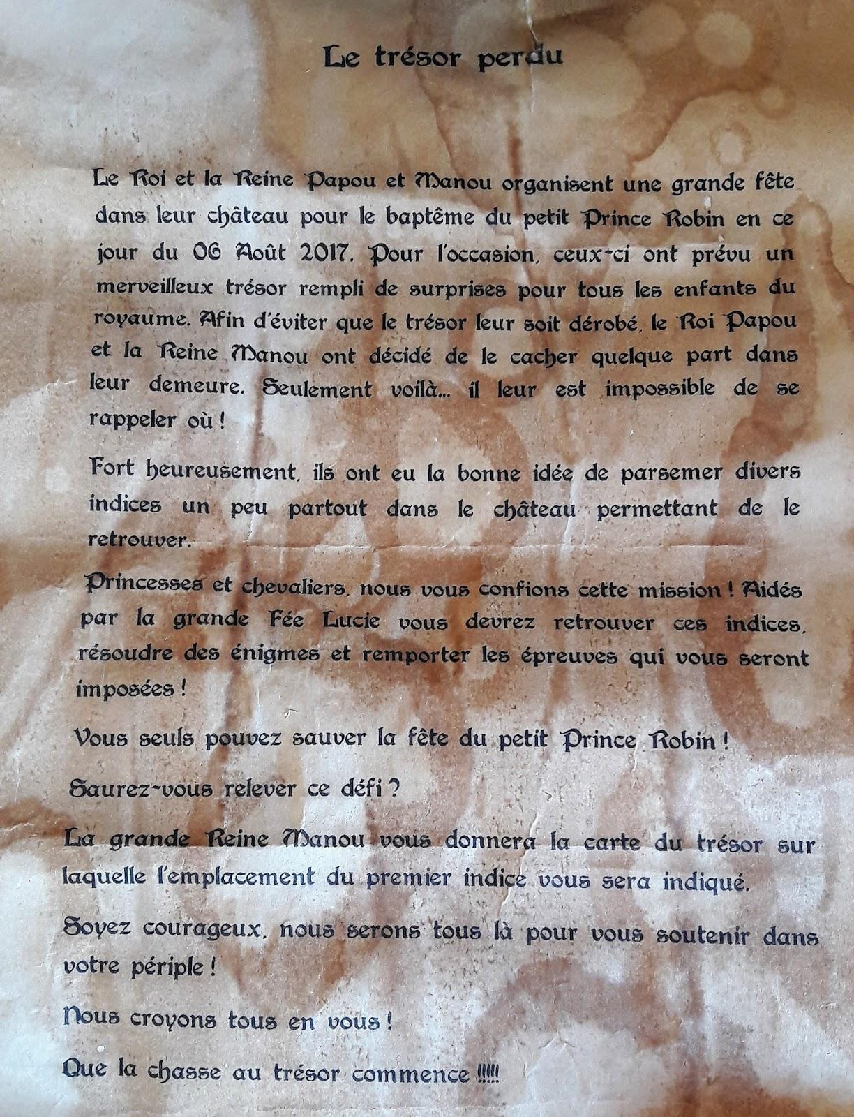 Carte Au Tresor Histoire.Organiser Une Chasse Au Tresor Pour Des Petits La Quiche