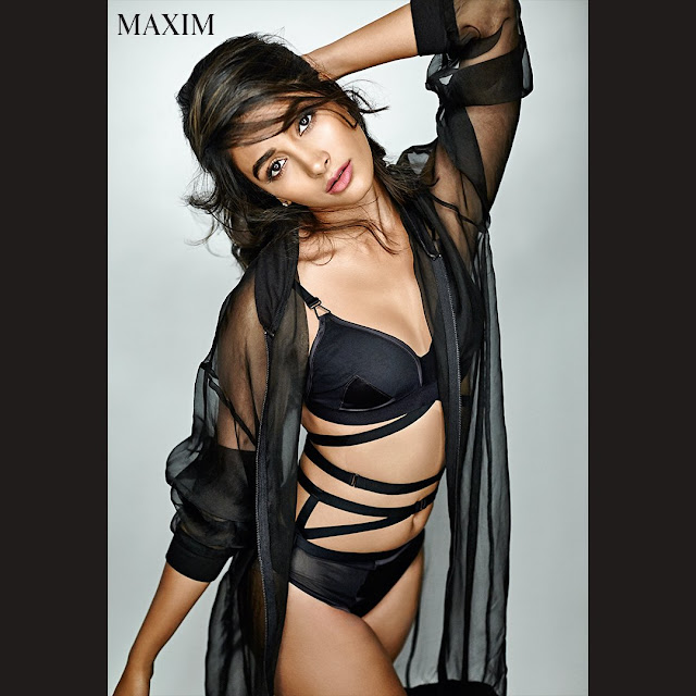Actress Pooja Hegde poses for Maxim Hot Photoshoot