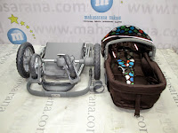 Kereta Bayi Lightweight CocoLatte CLH260GB iGroove Hadap Depan atau Belakang Polkadot Green