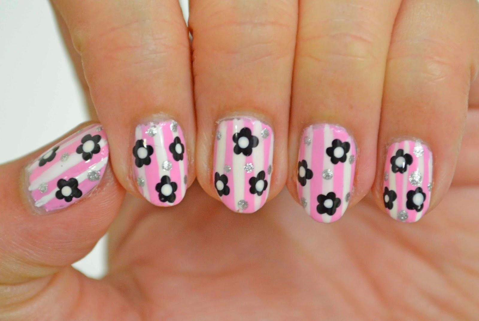 Nails Context: Pink Florals