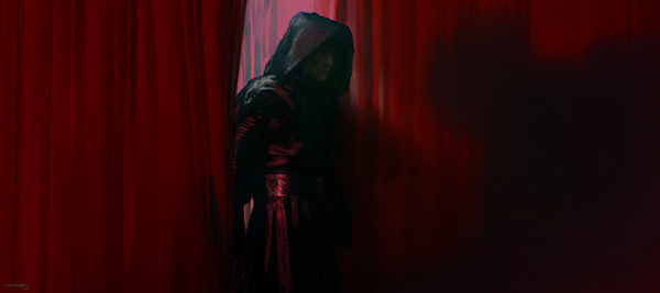 Kylo emerges from the Red Room (Illustrated by Clyne)