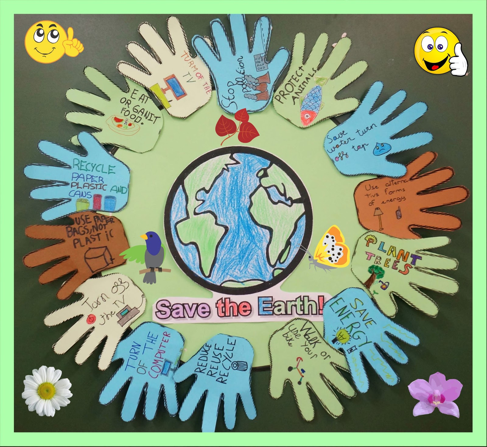 ENGLISH IS FUN 2: OUR ECOFRIENDLY-POSTER. Year 3