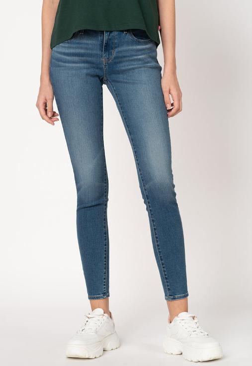 Reducere Blugi de femei albastri super skinny 710™  Levi's