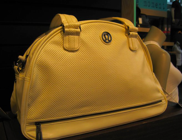 70f2533b037 I fell a little bit in love with this Retro Move Gym Bag today in the  creamy 'pearl' color. I love the perforations on this bag.