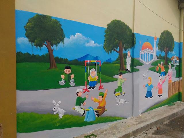 lukisan gedung tk
