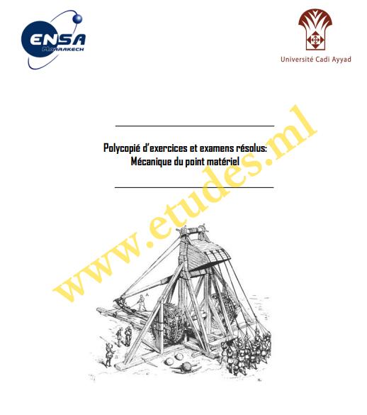 Exercices Et Examens Résolus: Mécanique Du Point Matériel