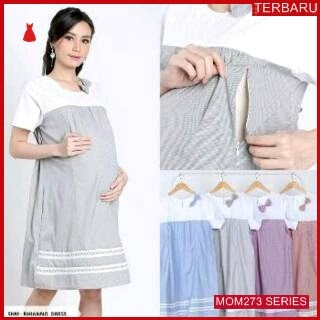 MOM273D13 Dress Hamil Menyusui Manis Pita Dresshamil Ibu Hamil