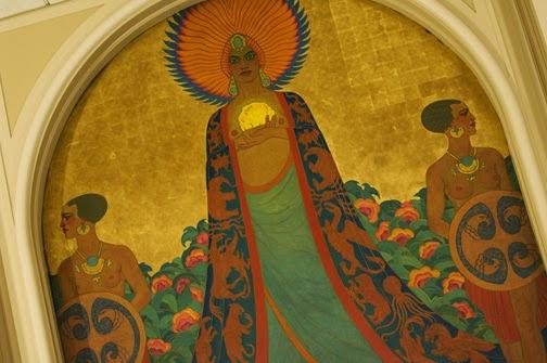 beautiful mural of Queen Califia