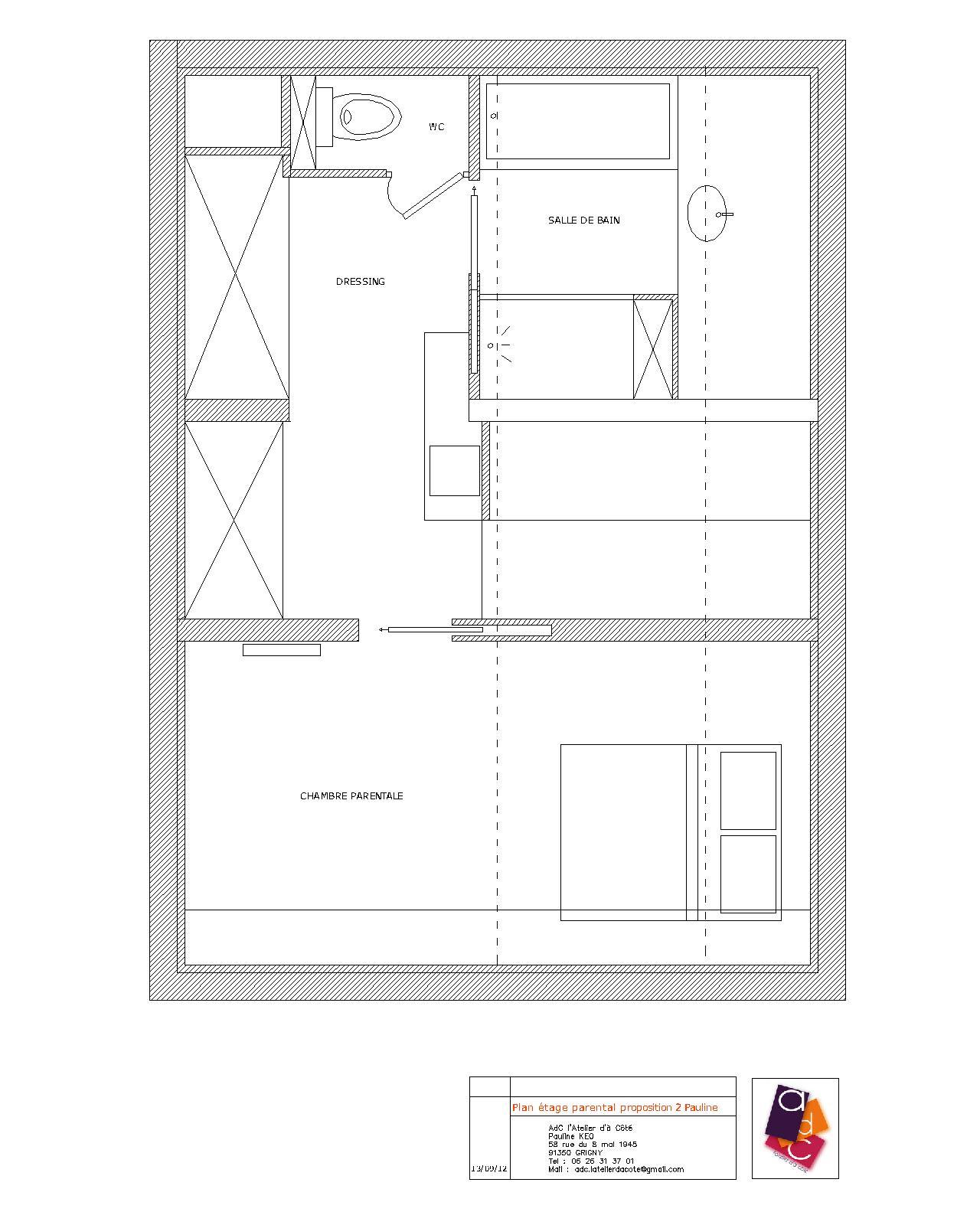 Adc L Atelier D A Cote Amenagement Interieur Design D Espace Et Decoration Renovation Et Agencement D Une Suite Parentale Avec Chambre Et Salle De Bain