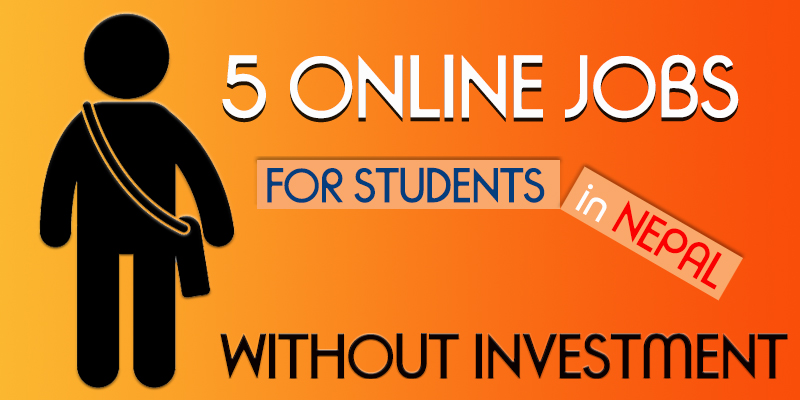 online job for student in nepal without investment