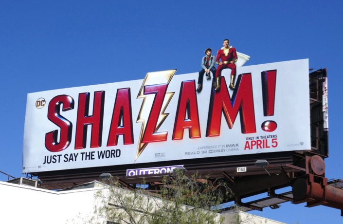 Shazam movie billboard