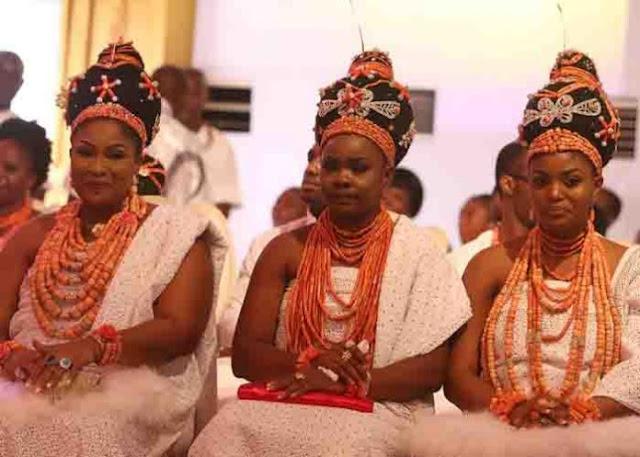 Wives of the new Oba of Benin Oba Ewuare II