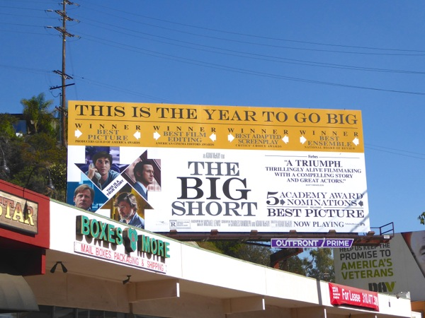 Big Short Oscar nominee billboard
