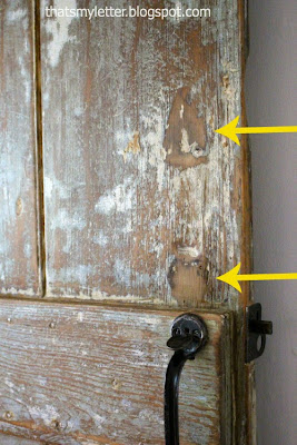 primitive farmhouse door hardware markings from old hardware