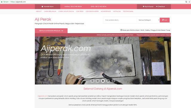 Toko Online Jualan Cincin Perak