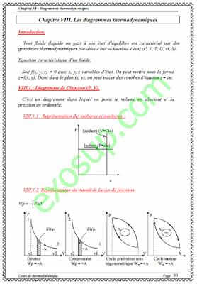 cours sur le diagrammes thermodynamiques thermodynamique 2 smp s3