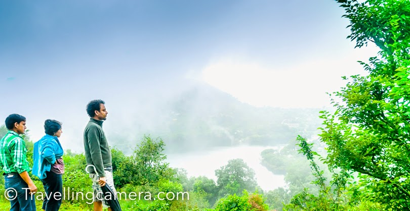 It's been more than 2 years that I visited Firdaus in Naukuchiatal  and now that summers are here, I am craving a visit to this beautiful place in the hills. Recently I have shared about some of the offbeat hill stations in North India  and in Kumaon region, I like Naukuchiatal the best. And Firdaus is one of the main reasons why I love this hill station so much. This Photo Journey shares more about the place and interesting things to do/explore around it. Thapalia Mehra Gaon (village) is located around the Lake and this cottage, a homestay called Firdaus, is beautifully located on a peaceful hill in this village. The homestay is very well maintained and is a great place to spend summers with family or friends. Naukuchitaal is a small town around a beautiful lake. You can enjoy boating & kayaking in this lake. There are some opportunities for hiking or paragliding around this place. The town has two beautiful resorts, which are usually preferred by folks in larger groups. When Nandan (Ghumakkar ) visited this region of Uttrakhand, he dreamt of having a nice home in these hills. He has visited SaatTal and Naukuchiatal many times. Over a period of time he found a piece of land around the lake. It took good amount of time to build this dream house. Nandan, Smita, and Pihu love to visit Firdaus at least every alternate weekend :). They drive from Delhi to Naukuchitaal. When I visited Firdaus, we started early in the morning(5:30am) and reached by 12:30pm. The drive from Kathgodam till Nauuchitaal is awesome and if you are lucky clouds would play hide-n-seek with you on the way. Don't worry, if you don't experience that on the way because Naukuchitaal would offer many such surprises to you. One big reason for anyone to visit this town is the greenery. While it is pretty almost the entire year, in the monsoons it is heaven. If you love trees, shrubs, grass, and all things green, this is the place to be. Firdaus itself is very thoughtfully done up by Nandan and Smita. The 