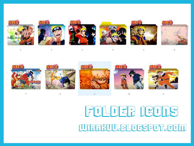 11 Folder Icons Anime Naruto (Windows 7, 8, 10)