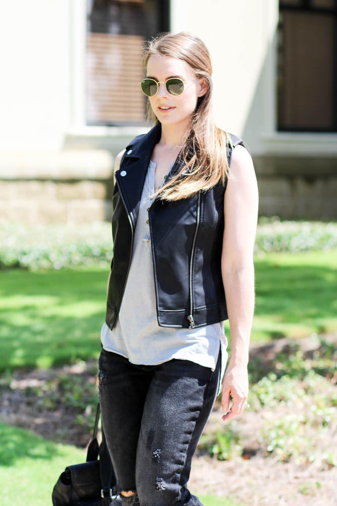 Leather vests now and in the fall