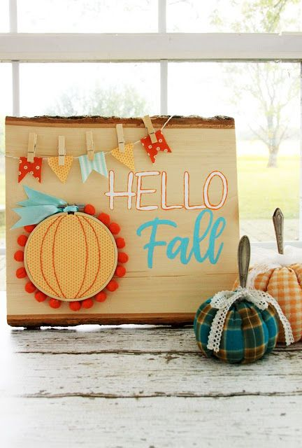 happy fall wood entryway sign