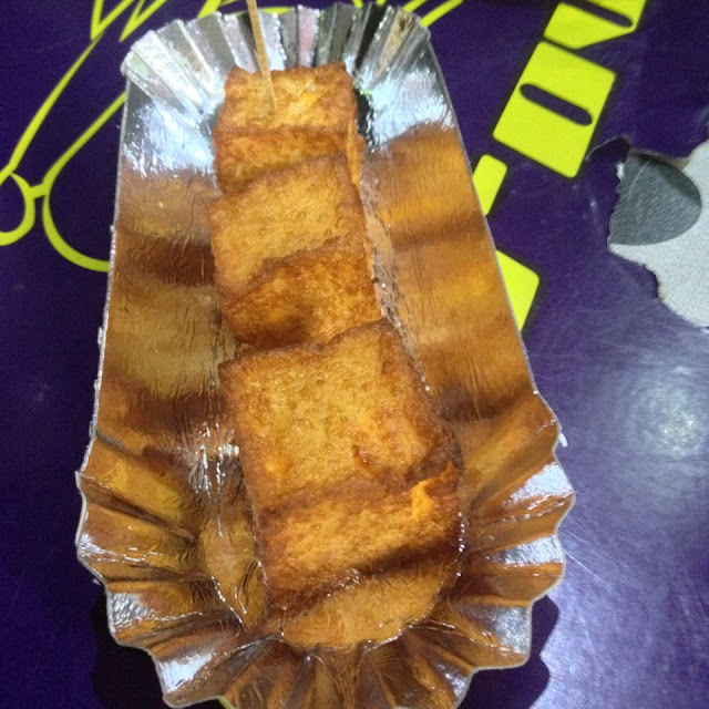 Deep fried cheese tofu at Siomai Madness