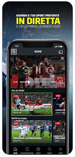 DAZN: Diretta Calcio e Sport si aggiorna alla vers 2.3.14