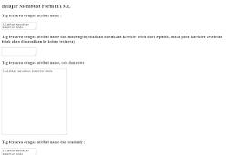 Penggunaan dan Penulisan Tag Textarea Dalam Form HTML