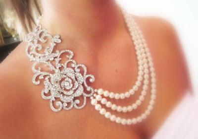 collane, idee per la sposa, cosa indossare il giorno delle nozze, collana da sposa
