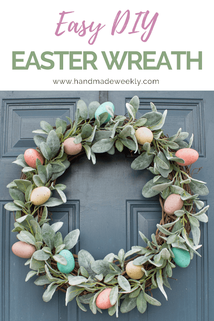 Easy DIY Easter egg wreath.