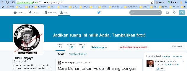 gambar tampilan baru profile twitter yang baru