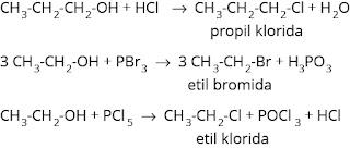 reaksi pembentukan alkil halida