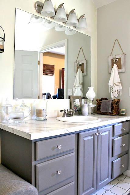 Vanity and sink makeover