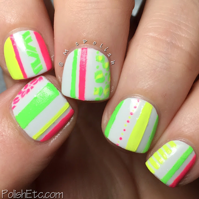Neon stripes and tiny details for the #31DC2016Weekly - McPolish