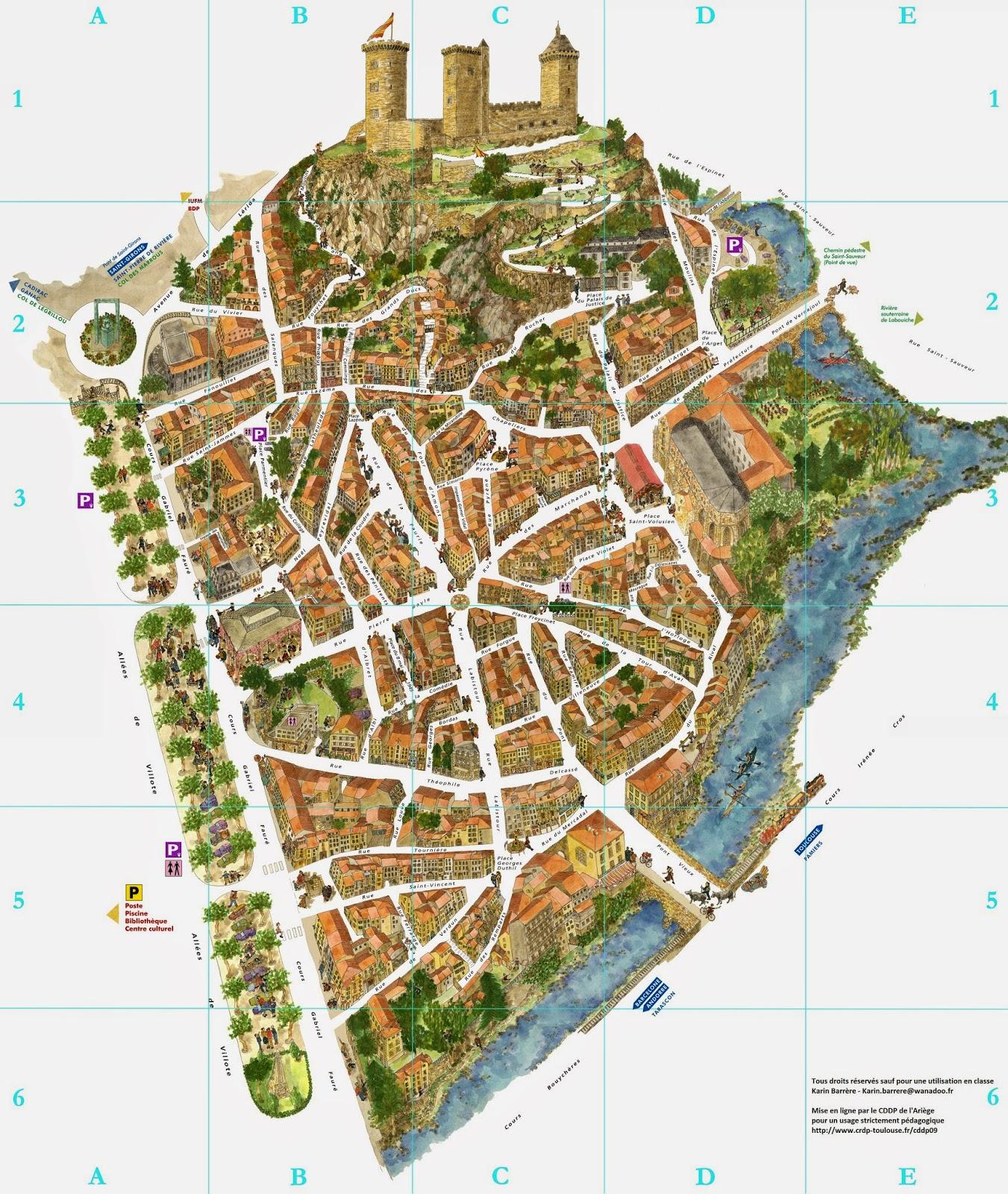 Mapa de Foix, Francia