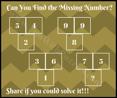 Tough math puzzle to find missing number