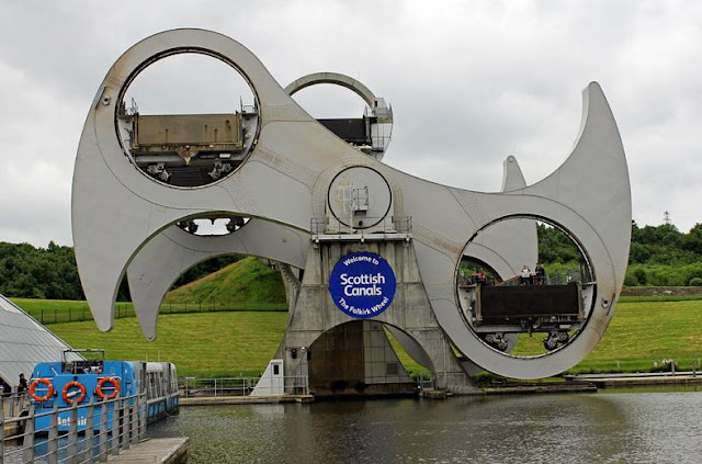 Buy artwork of The Falkirk Wheel.