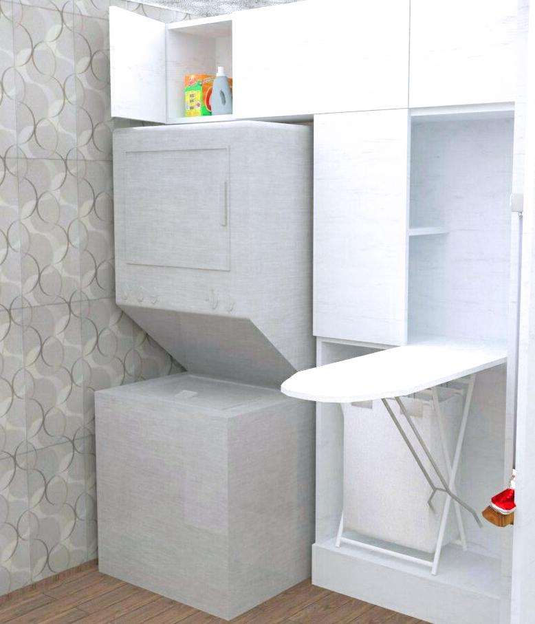 Dise o y decoraci n de interiores departamentos peque os y for Diseno de muebles para cuarto de lavado