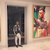 Floyd Mayweather unveils his 8ft tall Conor McGregor portrait made of broken glass in his Beverly Hills home