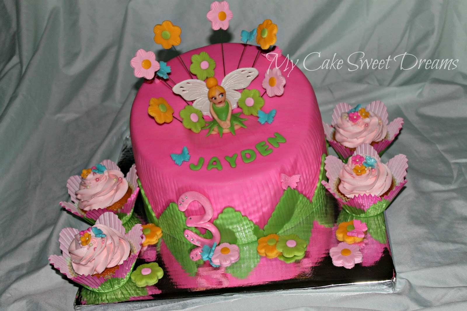Mycakesweetdreams Tinkerbell Birthday Cake