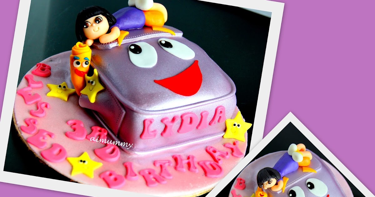 Japanese Dora Cake Recipe: AiMummy: Dora Backpack Cake