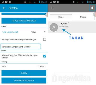 Cara Unblock Kontak BBM Android
