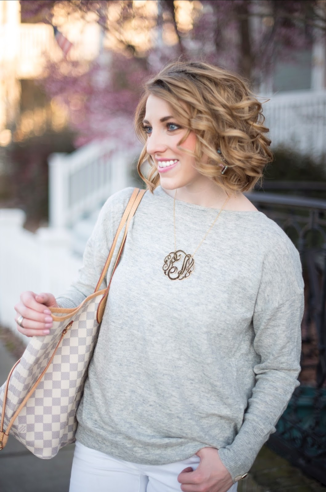 Extra Large Monogram Necklace - Something Delightful Blog