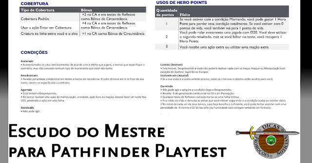 Escudo do Mestre Pathfinder 2E