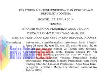 Standar Nasional PAUD sesuai PP Nomor 37 Tahun 2014